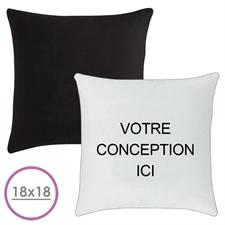 Oreiller conception personnalisée (verso noir) coussin (sans insert) 45,72 x 45,72 cm