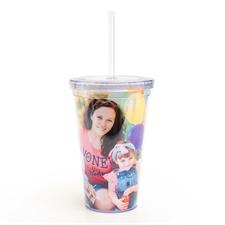 Gobelet en acrylique à double paroi conception photo personnalisée
