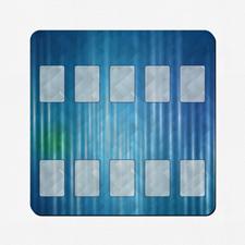 Tapis de jeu oeuvre personnalisée 45,72 x 45,72 cm