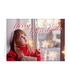 Carte de voeux impression personnalisée écriture élégante Joyeux Noël