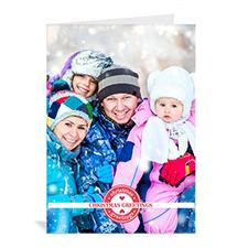 Carte de voeux impression personnalisée timbres voeux de Noël