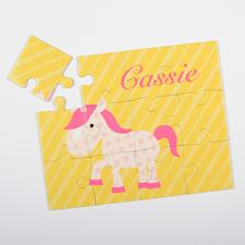Puzzle pour enfants personnalisé unicorne