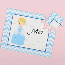 Puzzle pour enfants personnalisé petite princesse, cheveux blonds