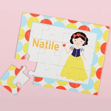 Puzzle pour enfants personnalisé petite princesse, cheveux noirs