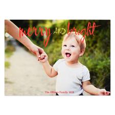 Carte de Noël photo personnalisée joyeux et lumineux