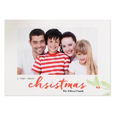Carte photo de Noël personnalisée Un très joyeux Noël