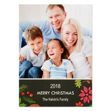 Carte photo de Noël personnalisée fêtes florales