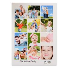 Carte de Noël photo personnalisée blanche douze collage