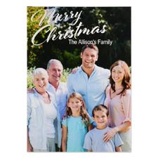 Carte de Noël photo  personnalisée joyeux Noël