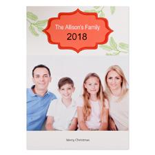 Carte de Noël photo personnalisée arbre de Noël