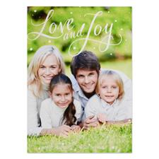 Carte de Noël photo personnalisée amour et joie
