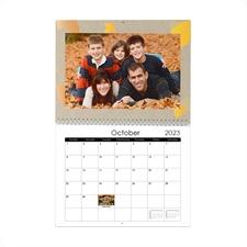 Petit calendrier mural 21,59 x 27,94 cm saison artisanale