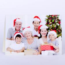 Carte de voeux personnalisée impression personnalisée image de Noël en paysage