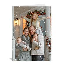 Carte de voeux personnalisée impression personnalisée image de Noël en portrait