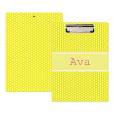 Porte-bloc personnalisé pois jaune