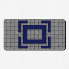 Tapis de jeu impression pleines couleurs 35,56 x 71,12 cm