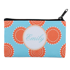 Artistic Floral Personalized Cosmetic Bag 4X7