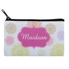 Summer Floral Personalized Cosmetic Bag 4X7