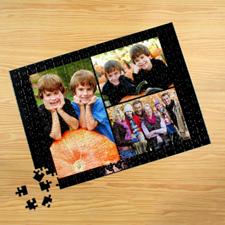 Puzzle photo personnalisé noir 3 collage 30,48 x 41,91 cm