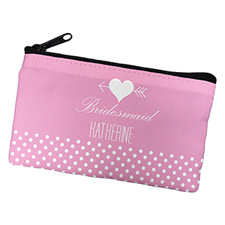 Arrow Heart Personalized Cosmetic Bag