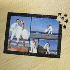Puzzle photo personnalisé noir 4 collage 30,48 x 41,91 cm