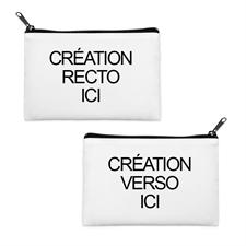 Custom Imprint 3.5X6 Cosmetic Bag Black Zipper (Different Image)