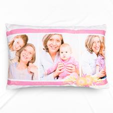 Taie d'oreiller personnalisée collage photo floral