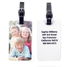 Étiquette de bagage photo personnalisée avec votre contact