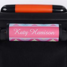 Enveloppe de poignée de valise personnalisée chevron arc-en-ciel