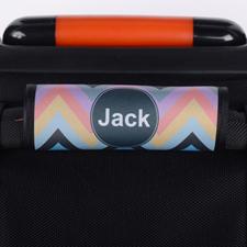 Enveloppe de poignée de valise personnalisée chevron coloré