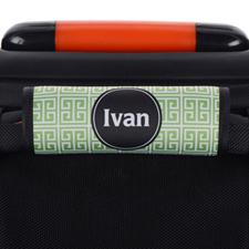 Enveloppe de poignée de valise personnalisée grecque vert noir