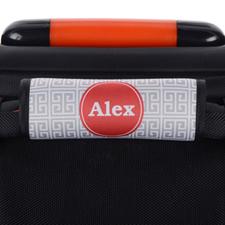 Enveloppe de poignée de valise personnalisée grecque gris