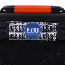 Enveloppe de poignée de valise personnalisée grecque noir