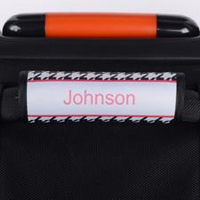Enveloppe de poignée de valise personnalisée pied-de-poule noir