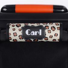 Enveloppe de poignée de valise personnalisée léopard