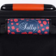 Enveloppe de poignée de valise personnalisée léopard rouge bleu marine