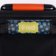 Enveloppe de poignée de valise personnalisée léopard bleu jaune