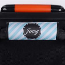 Enveloppe de poignée de valise personnalisée rayure paon