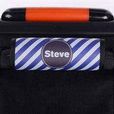 Enveloppe de poignée de valise personnalisée rayure violette