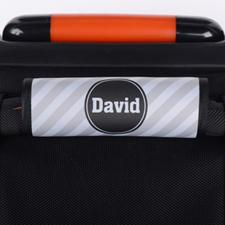 Enveloppe de poignée de valise personnalisée rayure grise