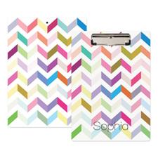 Porte-bloc personnalisé zigzag coloré