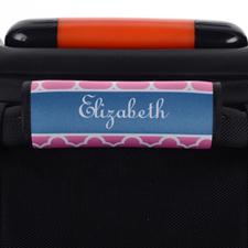 Enveloppe de poignée de valise personnalisée trèfle rose
