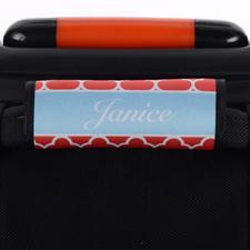 Enveloppe de poignée de valise personnalisée trèfle rouge