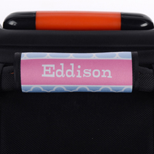 Enveloppe de poignée de valise personnalisée trèfle turquoise