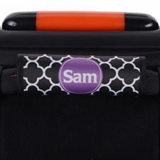 Enveloppe de poignée de valise personnalisée trèfle noir