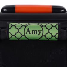 Enveloppe de poignée de valise personnalisée trèfle vert
