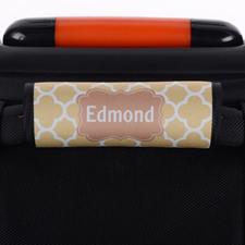 Enveloppe de poignée de valise personnalisée trèfle brun