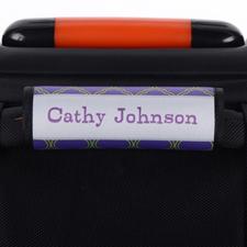 Enveloppe de poignée de valise personnalisée quadrilobe bleu marine lime