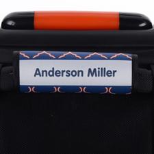 Enveloppe de poignée de valise personnalisée quadrilobe bleu orange