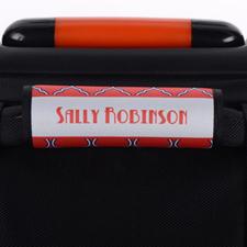 Enveloppe de poignée de valise personnalisée quadrilobe rose violet